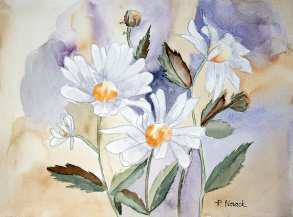 Flowers Art Print featuring the painting Daisy Days by Patricia Novack