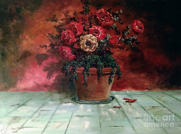 Still Life Art Print featuring the painting The Yellow Rose by Lee Piper