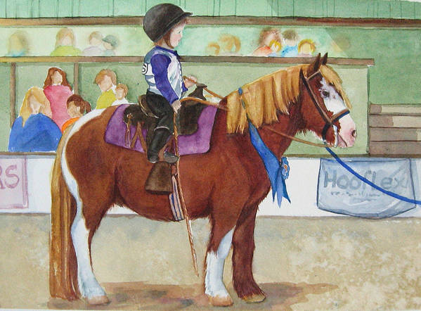 Equine Art Print featuring the painting Blue Ribbon Day by Gina Hall