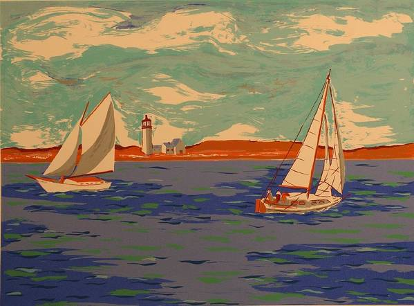 Art Print featuring the print Along The Coast by Biagio Civale
