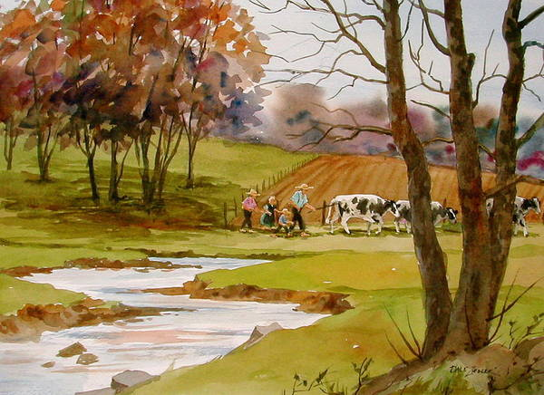 Landscape Art Print featuring the painting Homeward Bound by Faye Ziegler