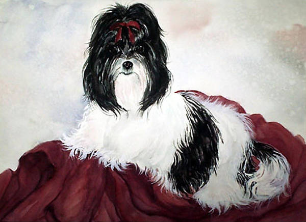 Canine Art Print featuring the painting The Princess by Gina Hall