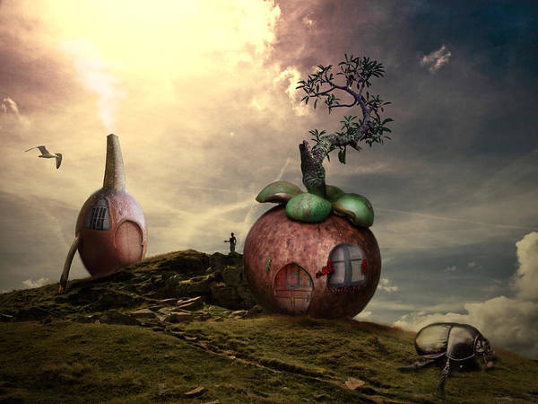 Photoshop Art Print featuring the painting Small World by REDlightIMAGE