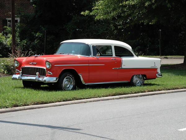 55 Art Print featuring the photograph 55 Chevy by Frank Romeo