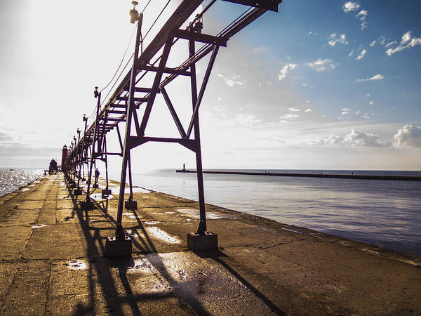 Grand Haven Art Print featuring the photograph Grand Haven Pier by Kirsten Dykstra