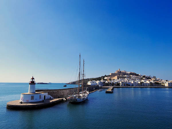 Harbor Art Print featuring the photograph Harbor In Ibiza Town by Karol Kozlowski