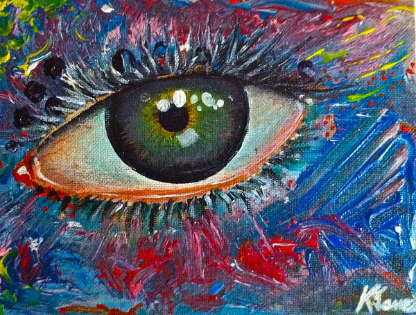 Eyes Art Print featuring the painting Mystery Stare by Kelvin James