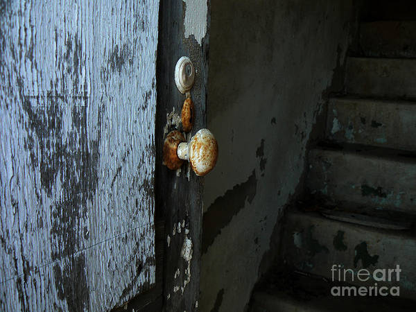 Door Knob Art Print featuring the photograph Past Age Passage by Lin Haring