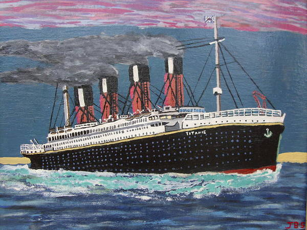 Titanic Art Print featuring the painting Ship Of Dreams by Jose Bernal