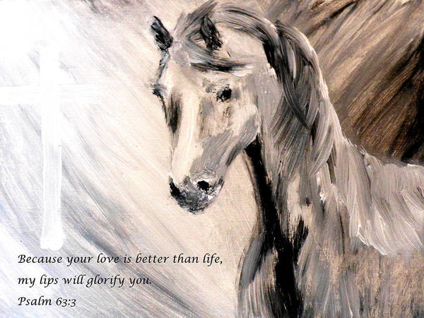 Because Your Love Is Better Than Life My Lips Will Glorify You Art Print featuring the painting God Is Love by Amanda Dinan