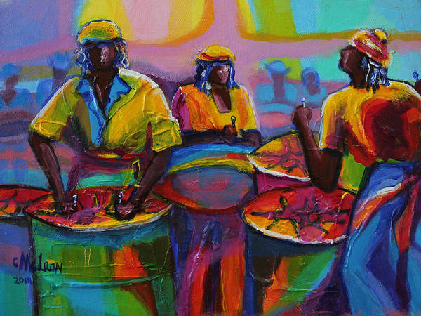 Steel Pan Art Print By Cynthia Mclean