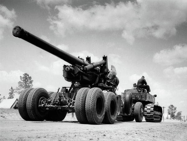 Photography Art Print featuring the painting 1940s Army Track Laying Vehicle by Vintage Images