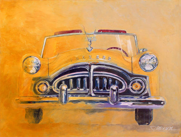 Transportation Art Print featuring the painting 1951 Packard Clipper by Ron Patterson