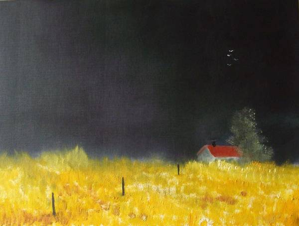 Corn Field Art Print featuring the painting Red Barn by Andy Davis