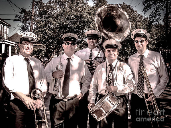 Band Print featuring the photograph 3rd Line Brass Band by Renee Barnes