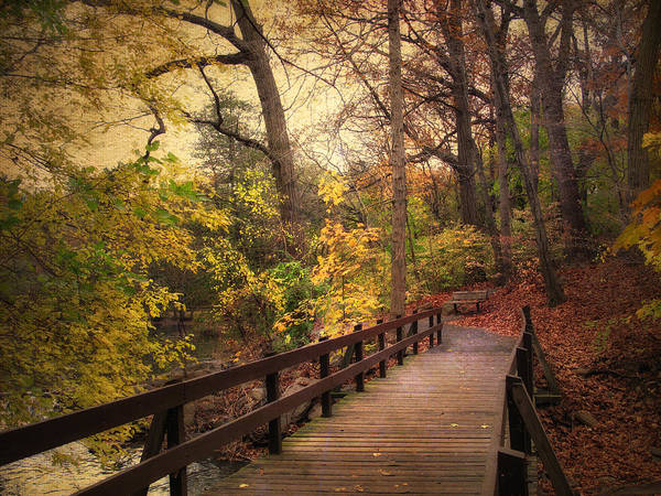 Autumn Art Print featuring the photograph The Crossing by Jessica Jenney
