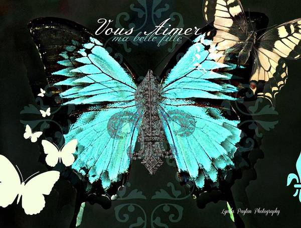 Butterfly Print featuring the digital art A Butterfly For Terra by Lynda Payton