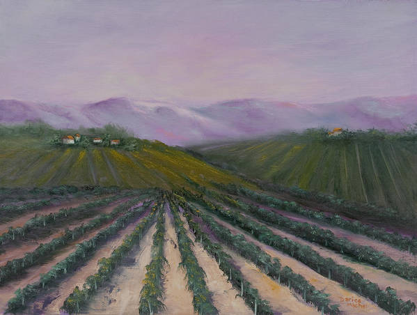 Landscape Art Print featuring the painting A California Morning by Darice Machel McGuire