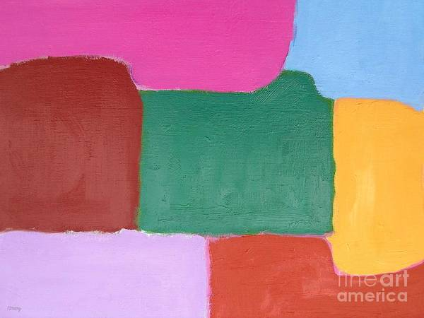Abstract Print featuring the painting Abstract 216 by Patrick J Murphy