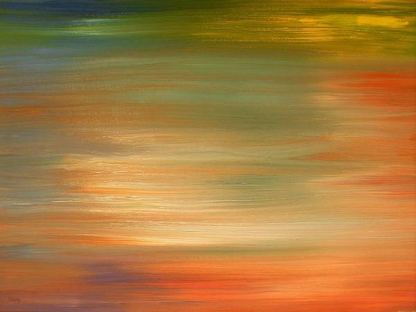 Abstract Art Print featuring the painting Abstract 424 by Patrick J Murphy