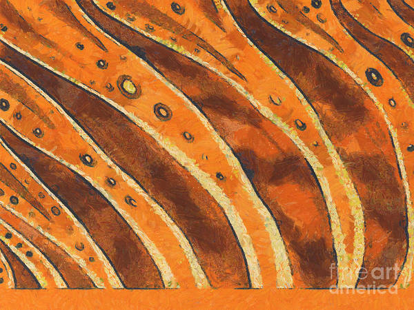 Van Gogh Art Print featuring the painting Abstract Tiger Stripes by Pixel Chimp