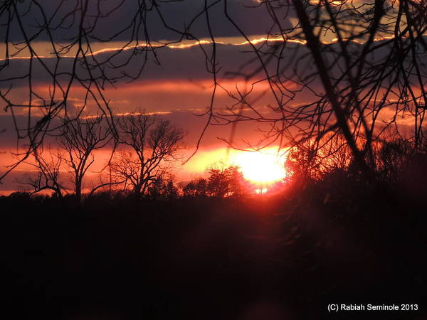 Sunset Art Print featuring the photograph After The Snow Sunset by Rabiah Seminole