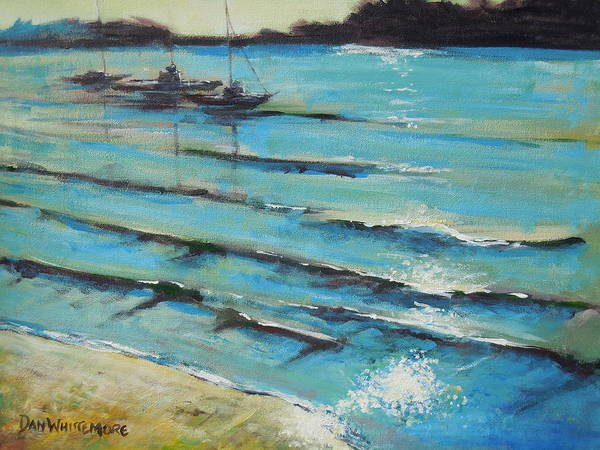 Lake Art Print featuring the painting Afternoon Shoreline by Dan Whittemore