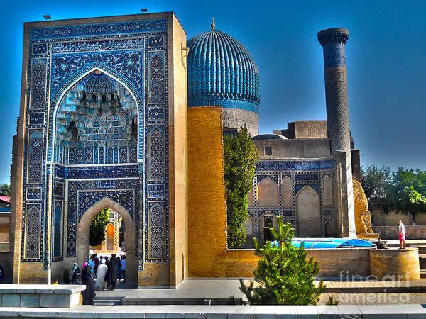 Amir Temur Mausoleum Uzbekistan Art Print featuring the photograph Amir Temur Mausoleum Uzbekistan by Ajay Bundiwal