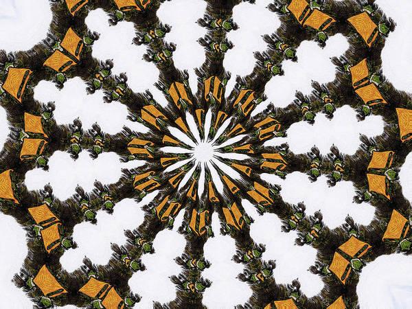 Ananasi Mandala Art Print featuring the digital art Ananasi Mandala by Lisa Brandel