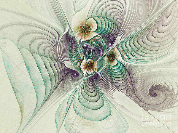 Fractal Art Print featuring the digital art Angelic Entities by Deborah Benoit