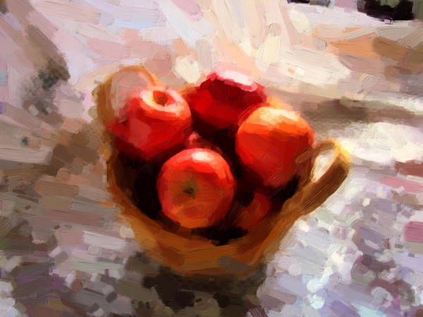 Apples Art Print featuring the photograph Apples On The Table by Shannon Story
