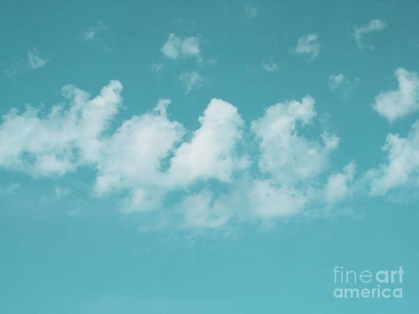 The Sky Art Print featuring the photograph Aqua Sky Meditation by Irina Wardas