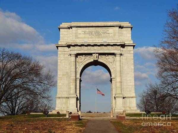 Arch Art Print featuring the photograph Arch At Valley Forge by Cindy Manero