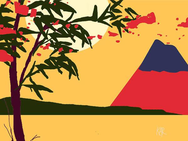 Landscape Art Print featuring the digital art Asia by Art by Kar