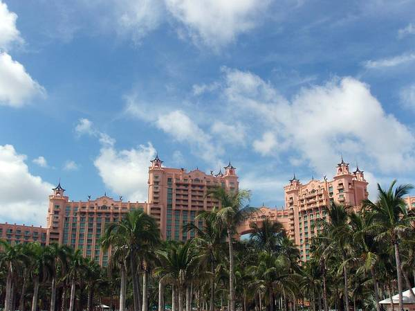 Atlantis Art Print featuring the photograph Atlantis Resort At Paradise Island by Teresa Schomig