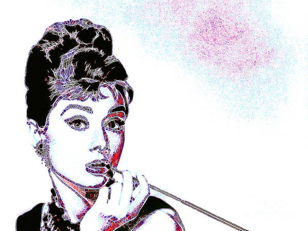Wingsdomain Art Print featuring the photograph Audrey Hepburn 20130330 by Wingsdomain Art and Photography
