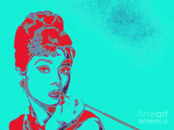 Wingsdomain Art Print featuring the photograph Audrey Hepburn 20130330v2p128 by Wingsdomain Art and Photography