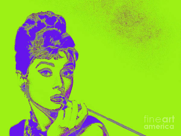 Audrey Art Print featuring the photograph Audrey Hepburn 20130330v2p38 by Wingsdomain Art and Photography