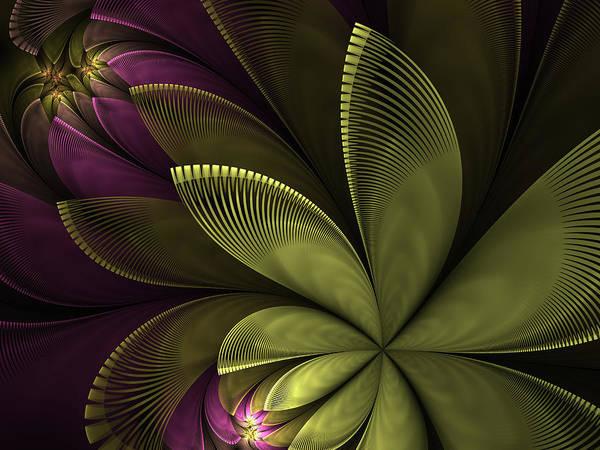 Flower Art Print featuring the digital art Autumn Plant II by Gabiw Art