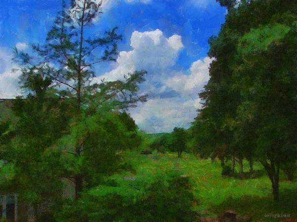 Back Yard Art Print featuring the painting Back Yard View by Jeffrey Kolker