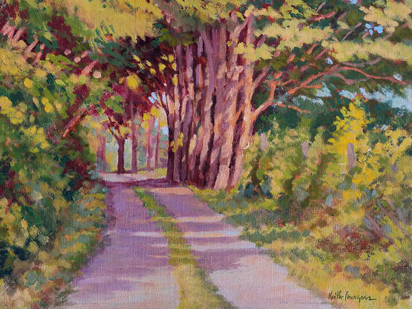 Road Art Print featuring the painting Backroad Canopy by Keith Burgess