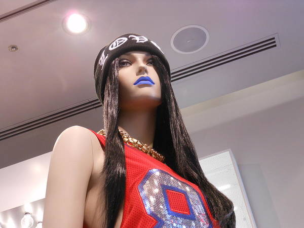 Mannequin Art Print featuring the photograph Blue Lips by Kay Gilley