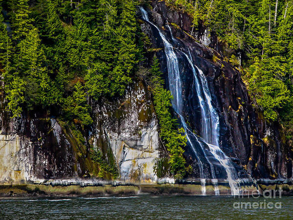 Waterfall Art Print featuring the photograph Bluish by Robert Bales