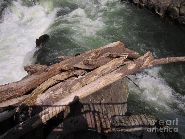 Water Art Print featuring the photograph Bridging The Chasm 01 by Rrrose Pix