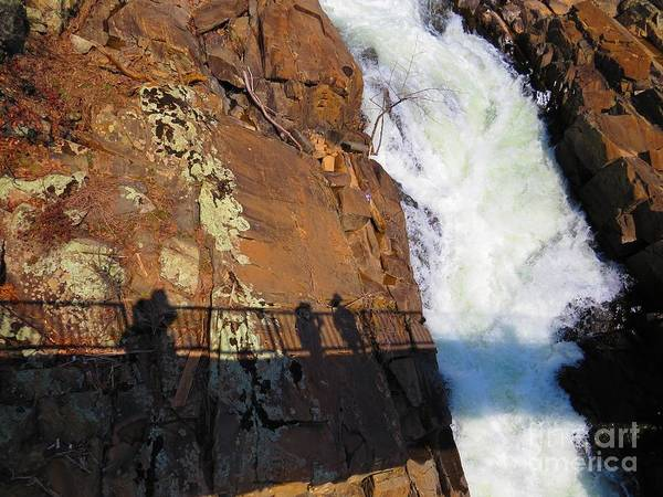 Water Art Print featuring the photograph Bridging The Chasm 03 by Rrrose Pix