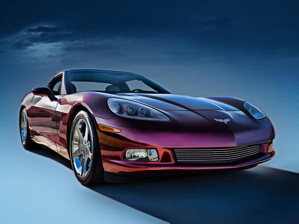 Chevrolet Art Print featuring the digital art C6 Corvette by Douglas Pittman