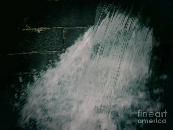 Water Art Print featuring the photograph Canal Overflow 03 Toy Camera by Rrrose Pix