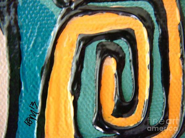 Yellow Art Print featuring the painting Canvas Snapshot 2 by W Morrow