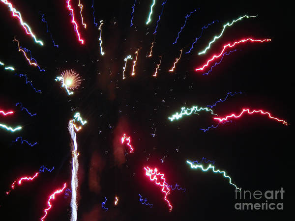 Fireworks Art Print featuring the photograph Celebration by Terry Weaver