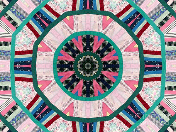 Patchwork Print featuring the photograph Circular Patchwork Art by Barbara Griffin